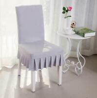 Stretch Dining Chair Lid Chair Protector Home Slipcover Decor Spande Skirt Style