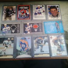 Edmonton oilers 11 card lot with 7 Gretzky cards