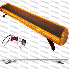 48 inch 88 LED Amber Emergency Warning Truck Strobe Light Roof Bolt Tow Bar