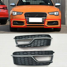 2 Pcs Front Bumper Grille Fog Lights Grille Cover Fit For 2013-2017 A5 S-line S5