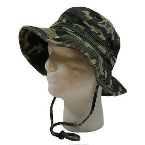 WIDE BRIM FISHING BUCKET BOONIE SAFARI  HAT CAP (100% COTTON)