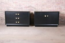 James Mont Mid-Century Hollywood Regency Ebonized Chests or Nightstands