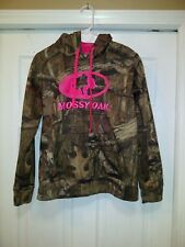 MOSSY OAK BreakUp Infinity Ladies Hoodie Pink Logo Sz Med 8-10 FREE SHIP