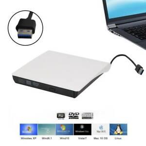 Lecteur CD DVD Externe,USB 3.0 Portable Graveur et Lecteur de CD-RW/DVD-RW FR