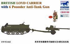 Bronco 1/35 35189 Loyd Carrier w/6 Pounder Anti-Tank Gun