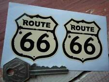 ROUTE 66 Bullet Hole Style STICKERS 50mm Pair Americana Mother Road USA Car Bike