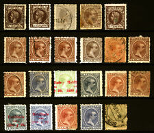 Puerto Rico King Alfonso Lot 1890-97,98 Mint/Used Shades Rare
