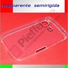 Custodia silicone SEMIRIGIDO LISCIO trasparente BIANCO x SAMSUNG S5360 GALAXY Y