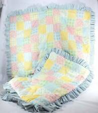 Baby Crib Bedding Quilt and Matching Pillow Sham Pastel Colors