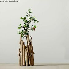 Wooden Flower Pots Minimalist Style Creative Vase Home Decoration Ornaments