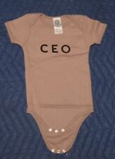 """CEO"" Short Sleeve Organic Cotton One Piece E+ Spread The Word 18-24 Months"