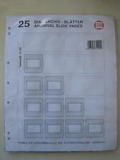 Archival Slide 2 x 25 Pages of 20 pocket 35mm Coin 2 x 2  Album Pouch Flips