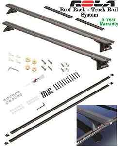 75-14 FORD E150 E250 E350 ROLA ROOF RACK CROSS BARS COMPLETE W/ TRACK RAIL SYSTM