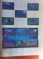 ROSS DEPENDENCY WHALES OF THE SOUTHERN OCEAN  MUH  MINI SHEET  & SET OF 5 STAMPS