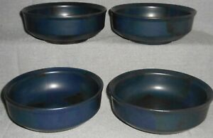 Set (4) Iron Mountain Stoneware BLUE RIDGE PATTERN Soup/Cereal Bowls TENNESSEE