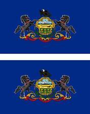 2 x Autocollant sticker voiture vinyl drapeau USA americain pennsylvania