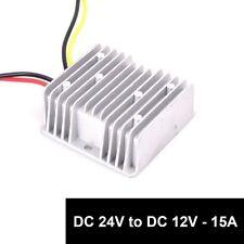 DC 24v to DC 12v Step Down 15A 180W Truck RV Car Power Supply Adapter Converter