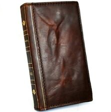 Genuine Leather Case For Apple iPhone 12 Pro Max Wallet Cover Book Retro Bible