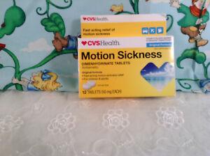 CVS Health Motion Sickness Dimenhydrinate Tablets OTC 12 Tablets EXP 02/19