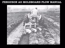 FERGUSON AO MOLDBOARD PLOW MANUALs 70pg with Service Operations & Maintenance