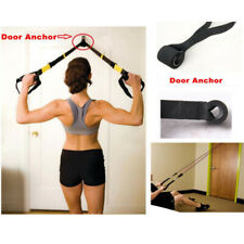 Home Fitness Resistance Bands Over Door Anchor Elastic Band Training Exercise UK