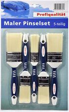 Hansa Maler Pinselset 5-teilig Profi 50mm/40mm/25mm Lasurpinsel Lackpinsel