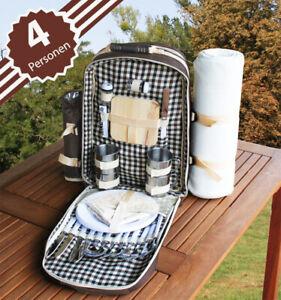 Picknick Rucksack für 4-Personen Braun