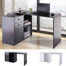 HOMCOM Eckschreibtisch Computertisch Bürotisch Winkelschreibtisch 2 Farben