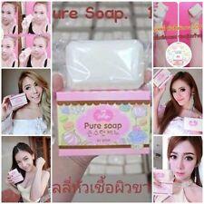 New Pure Soap Whitening Skin Aging Gluta Anti Body Lightening Jellys White.
