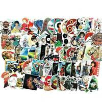 100Pcs Funny Anime Decorative Car Stickers Laptop Bike Skateboard Cartoon Cxz