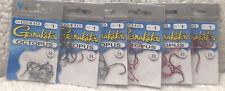 (6 Packs) Gamakatsu Size 1 Octopus Black & Red Hooks 8/pack All New 715