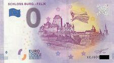 0 Euro Schein - Schloss Burg Felix 2019-10 XEJG null € souvenir