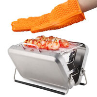 Heat Resistant Gloves Oven Grill Pot Holder BBQ Cooking Mitts Hand Protector Hot