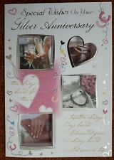 Silver wedding anniversary card ~ 25th wedding anniversary