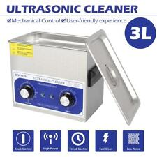 New Practical Stainless Steel 3L Industry Heated Ultrasonic Cleaner Heater Timer