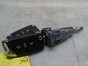 VOLKSWAGEN GOLF 12-19 MK7 GTD IGNITION BARREL AND TWO KEYS 5G0837167