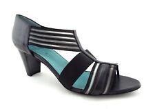 THIERRY RABOTIN Size 12 YUMA Black Leather T-Strap Heels Pumps Shoes 43