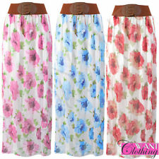 Unbranded Chiffon Plus Size Maxi Skirts for Women