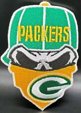 Green Bay Packers~Iron On Skull with Bandana Patch~Free Shipping from the USA~