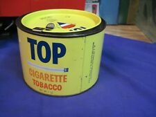 TOP TOBACCO TIN pipe or cigarette SMOKING CAN united states VINTAGE original