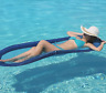 Kelsyus Floating Hammock Inflatable Pool Lounger Raft + Carrying case
