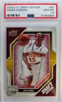 2009 09-10 Upper Deck Draft Edition JAMES HARDEN Rookie RC #40, Graded PSA 10