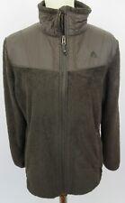 3041799ec NIKE ACG Brown Full Zip Deep Pile Fleece Jacket, Large, 2 Front Pockets -