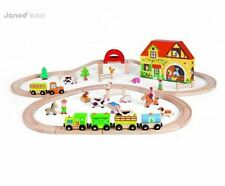 JANOD STORY EXPRESS FARM WOODEN TRAIN SET - FREE Delivery Available