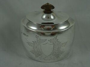 SUPERB, VICTORIAN silver TEA CADDY, 1882, 237gm