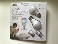 FEIT ELECTRIC 2 PACK SMART BULBS LED 60W