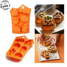 Halloween Silicone Cookie Cutter Mold Skull Pumpkin Bat Fondant Cake Chocolate