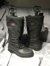 Sorel women's 8 lined canvas boots black muckers rain classic Tall