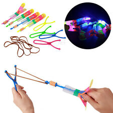 5Pcs LED Light Slingshot Luminous Rocket Large Slingshot Creative Kids Toy Gifts