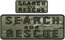 Search and Rescue embroidery patches 4x10 and 2x5 hook on back multicam